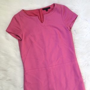 Brooks Brothers Pink Shift Dress Modest
